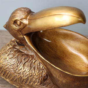 Image 5 - ERMAKOVA Toucan Figurine Key Storage Holder Pelica Statue Animal Bird Sculpture Home Desktop Decoration Ornament Gift