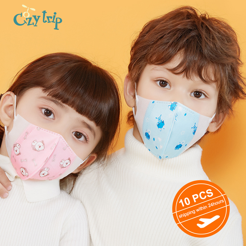 10 PCS Kids Mouth Mask Anti Bacterial PM2.5 Face Mask Cute Child Mask Protective Dustproof Mask For Kids