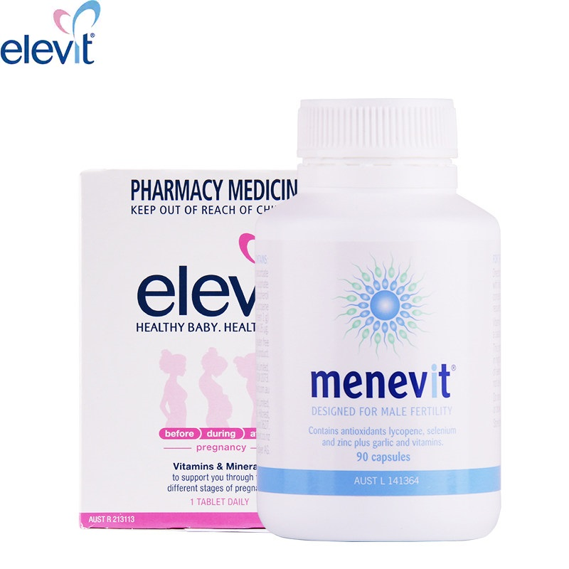 Elevit Pregnancy Multivitamin Supplement for Women Men Trying to Conceive Pregnant Breastfeeding Support Baby Brain Function image
