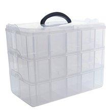 Складная трехслойная лента прозрачная коробка для хранения отдельная Лента наклейки инструмент менеджер прозрачный пластиковый офисный Органайзер