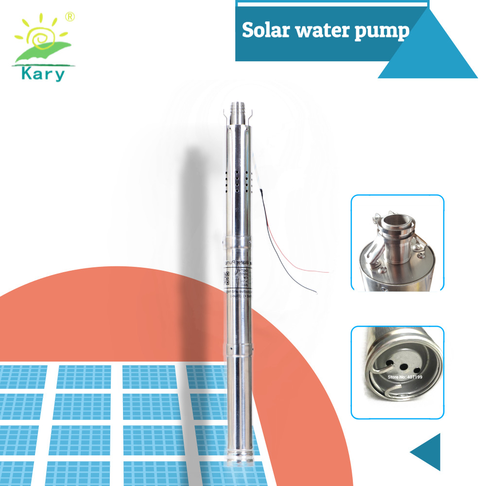 24v Dc Solar Water Pump, Deep Well Submersible Pump 50mm (2 Inch ) Small Diameter        Solar Submersible Well Pump