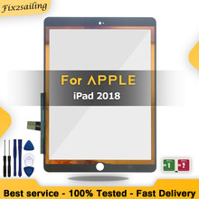 Novo toque para ipad 2018 a1893 a1954 digitador da tela de toque vidro frontal painel toque para ipad 6 6th gen sss + qualidade