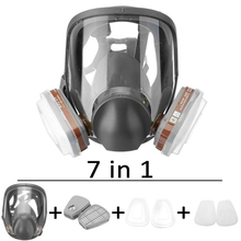 Anti-Fog Anti Dust Respirator Full Face Gas Mask Protection Industrial Gas Masks with Activated Carbon Filters Widely Used недорого
