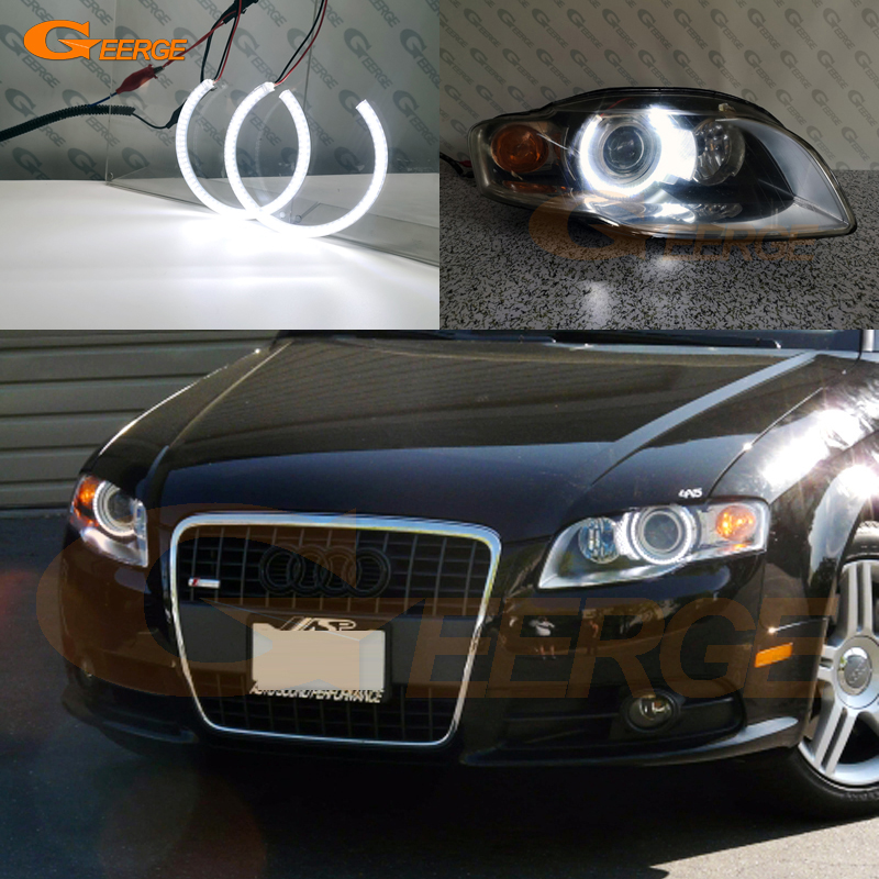 Excellent Ultra Bright Smd Led Angel Eyes DRL Halo Ring For Audi A4 S4 RS4 B7 2004 2005 2006 2007 2008 2009