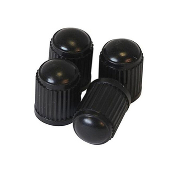 Hot sale 4Pcs/lot Plastic Bike Bicycle Valve Dust Caps Car Van Motorbike Tyre Tubes Black image
