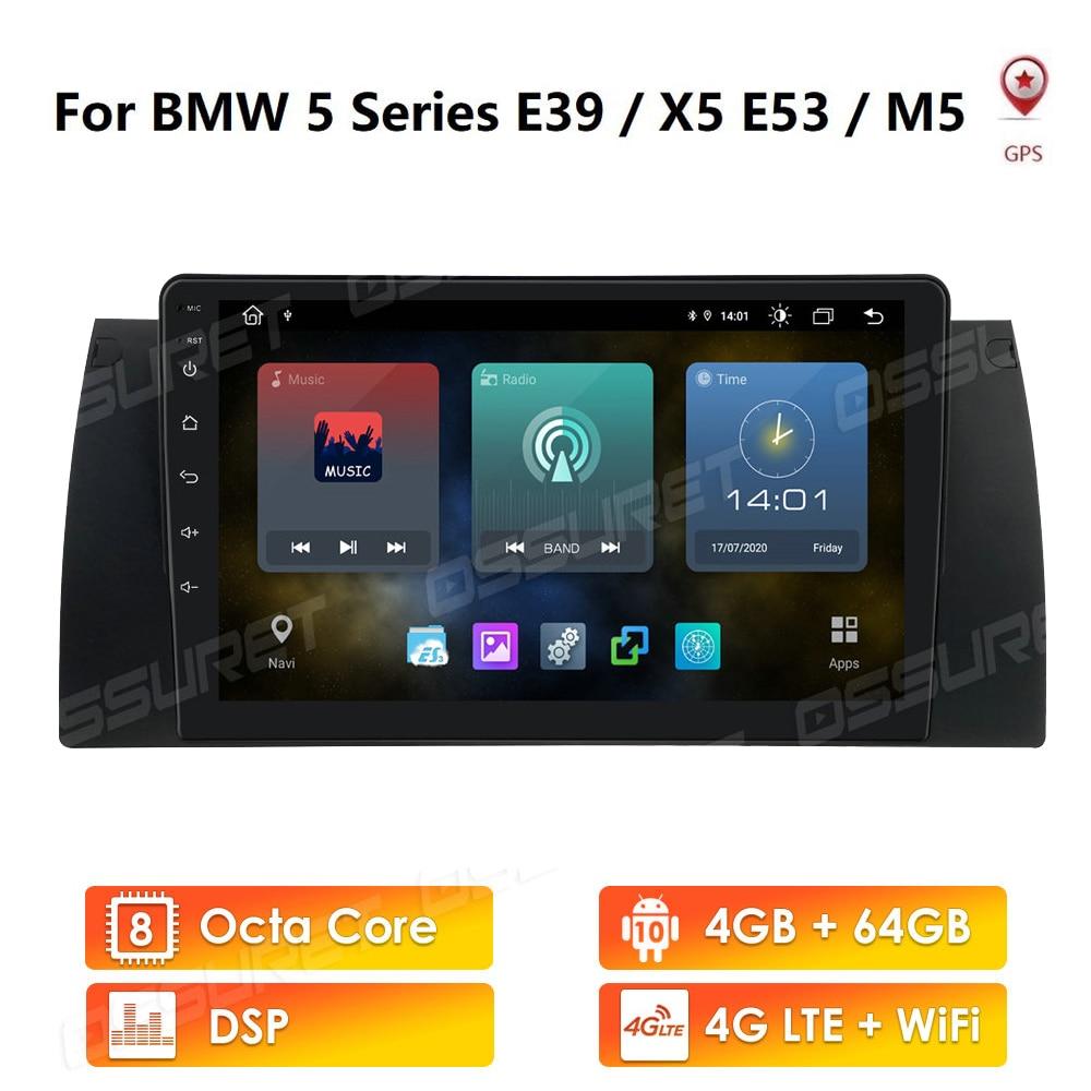 10 4G Android Car Radio Multimedia Video Player para BMW 5 E39 E53 X5 1995-2001 2002 2003 2004 2005 2006 Navegação GPS 2 din