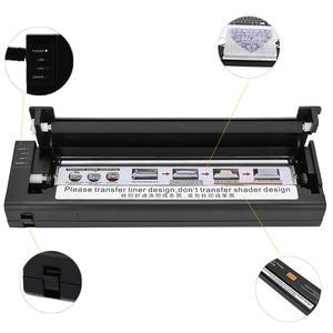 Image 5 - Geçici dövmeler Transfer makinesi yazıcı çizim termal Stencil Maker fotokopi makinesi dövme Transfer kağıdı malzemeleri Microblading