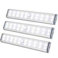 BMBY Unter Schrank Beleuchtung  Schrank Licht 20 Leds 3 Packs  Drahtlose Wiederaufladbare Schrank Lichter  magnetische Unter Gegen Beleuchtung-in LED-Streifen aus Licht & Beleuchtung bei
