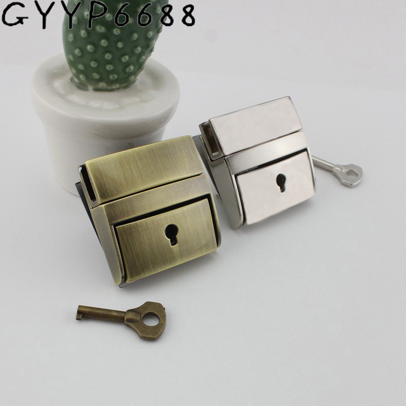 5sets Polished Gun Black Press Locks Has A Key For Men Leather Handbag Briefcase Bags Sewing