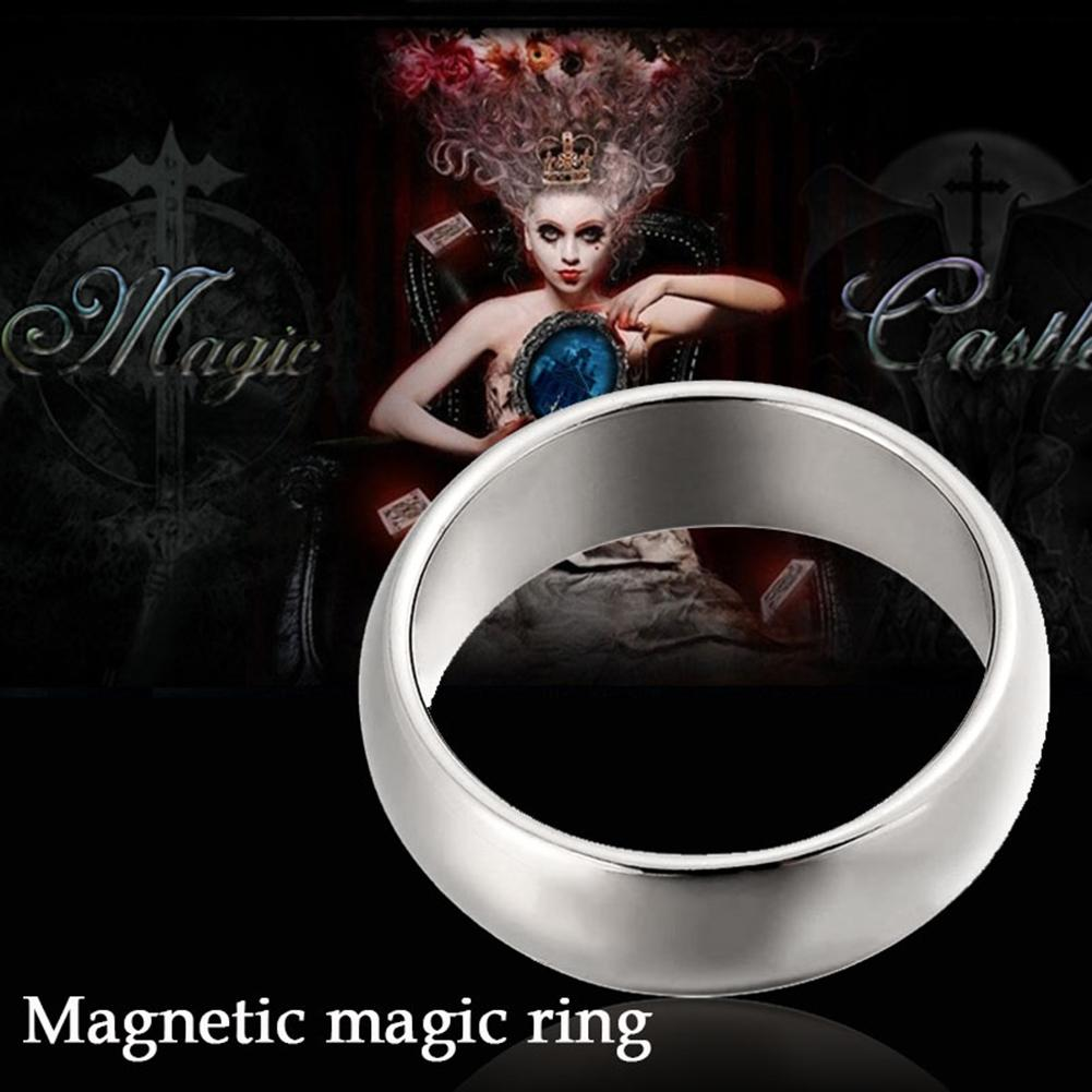 Ring Magic Tricks Strong Magnetic Magnets Ring Coin Finger Decoration 18/19/20/21mm Size Magic Ring Props Tools