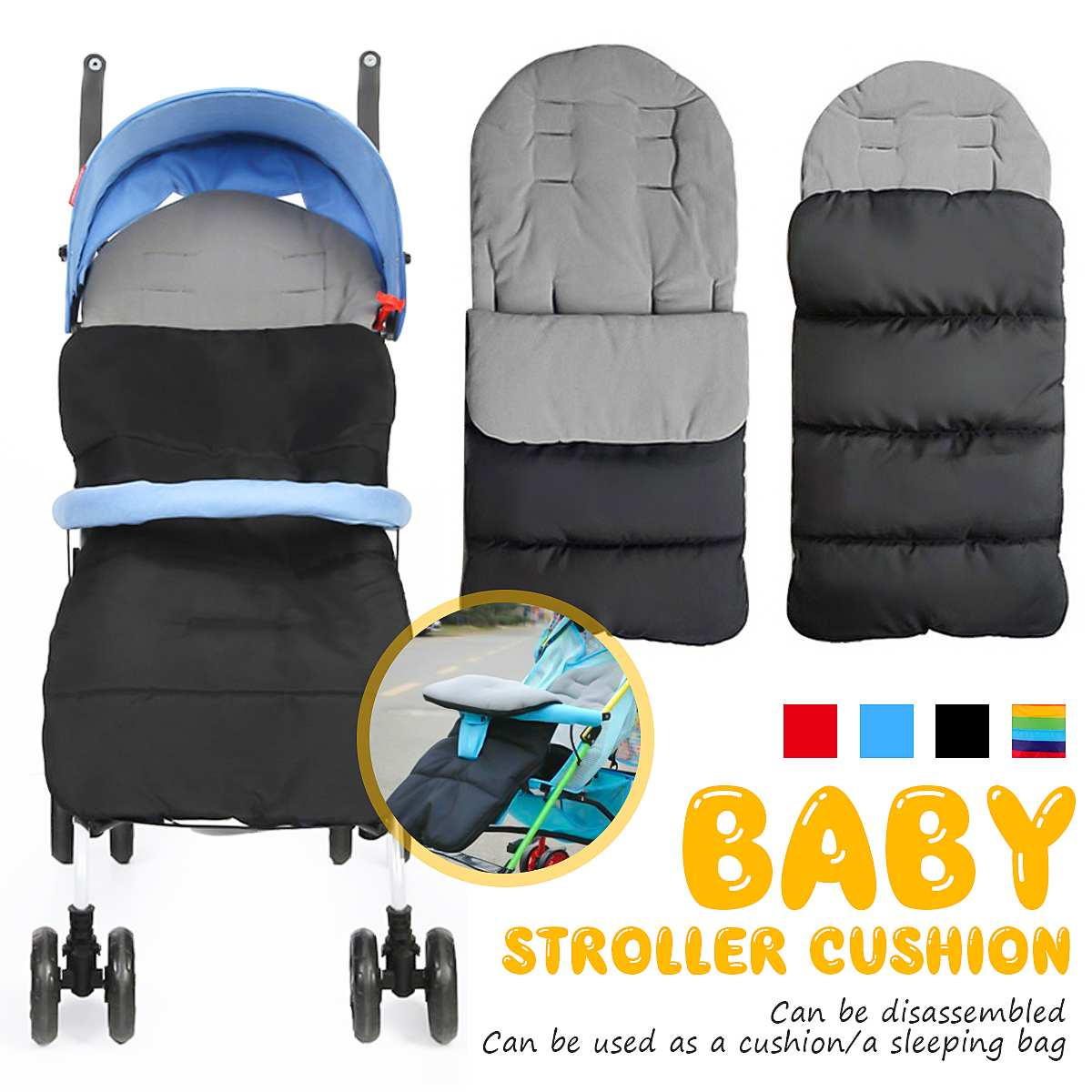Universal Winter Baby Toddler Footmuff Cosy Toes Apron Liner Pram Stroller Sleeping Bags Windproof Warm Thick Cotton Pad