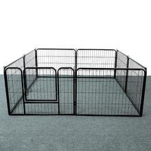 8 PCS Safety Dog Doors Fireplace Safety Kids Cat Dog Fences Black Home Security Pets Gates Supplies Foldable Steel Fence Hot HWC