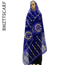 African Women Scarfs Big Size Net Scarf Transparent Breathe Material Tull