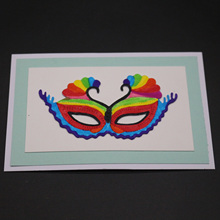Dance mask cutting mold DIY scrapbook album decoration supplies clear stamp mold paper card rib knit cami bodysuit