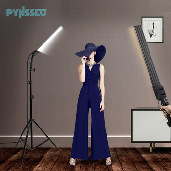 PYNSSEU 2 Packs Dimmable Bi-Color LED Photography Lighting Studio Kit with Tripod Stand for Portrait Product Shoot