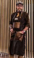 Leather Apron Kitchen Waterproof Oil Proof Men's Work Clothes Adult
