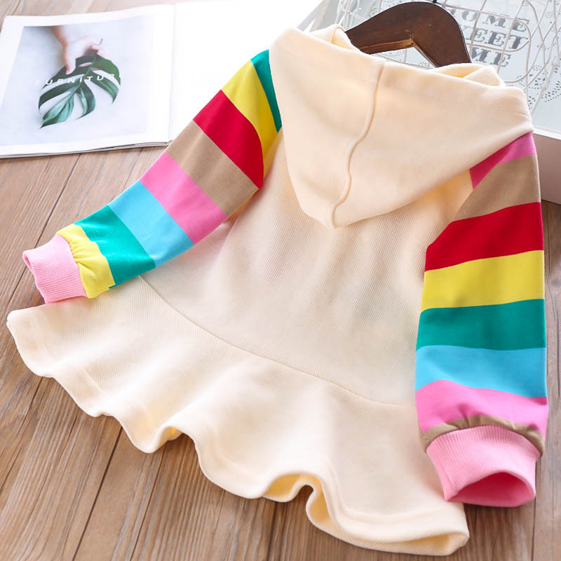 He8502e81172d4389b95edc6d93b141c3K Bear Leader Girls Dress 2019 New Autumn Casual Ruffles A-Line Striped Full Sleeve Kids Dress For 3T-7T