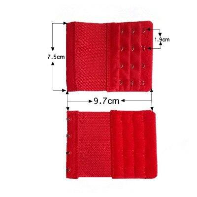 Лидер продаж, бюстгальтер, расширитель, 2 ряда, 3 ряда, 4 ряда, женское регулируемое нижнее белье, удлиненный бюстгальтер, застежка-крючок, пояс-удлинитель для бюстгальтера - Цвет: C4