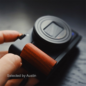Image 2 - Holz Hand Grip Bracket Basis L Platte Für SONY RX100 VII RX100 M7 M6 RX DSC RX100