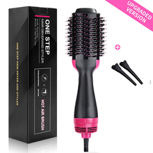 Professional One Step blow Hair Dryer brush volumizer 2 in 1 straightener and