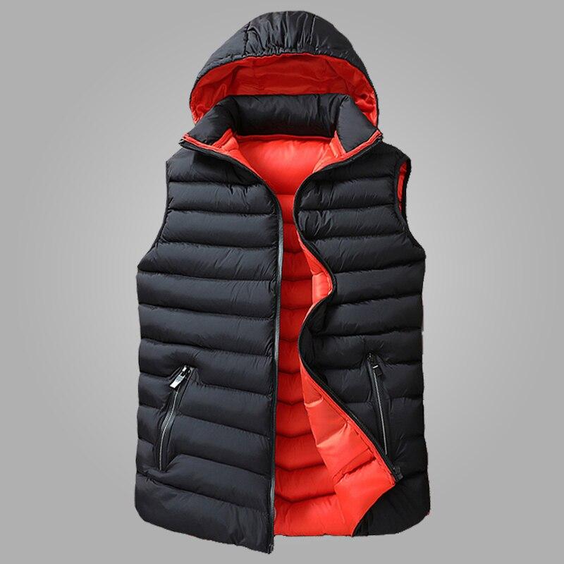 Hiver sans manches veste hommes bas Gilet hommes chaud épais à capuche manteaux Homme coton rembourré hommes travail Gilet Gilet Homme Gilet 8XL