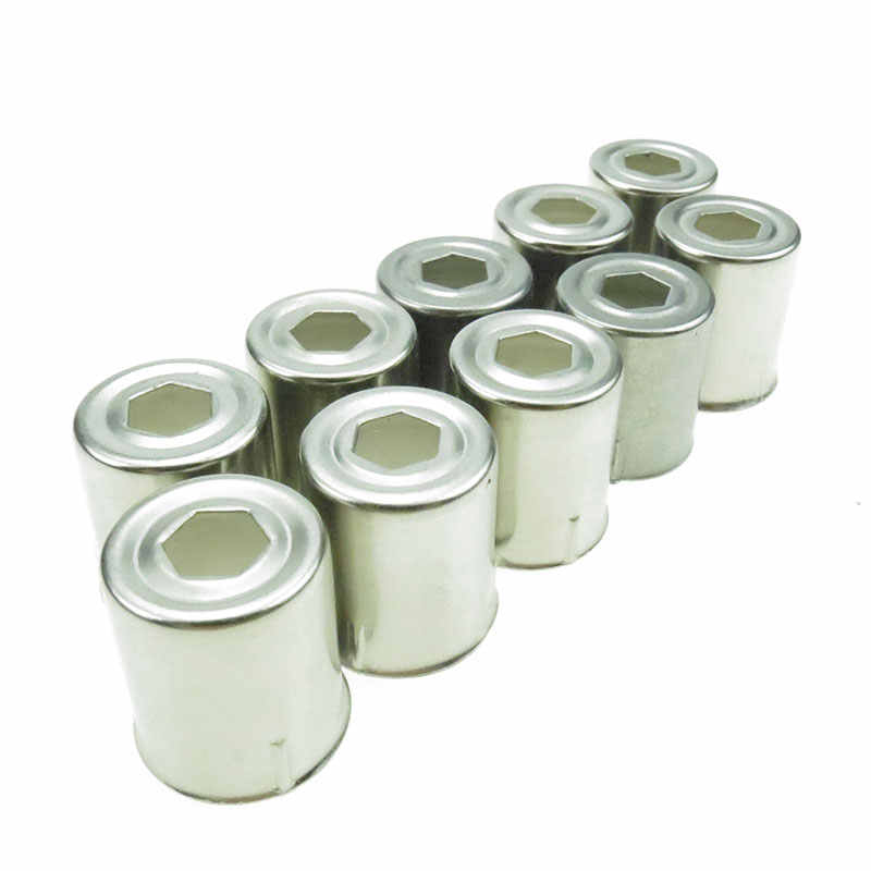 10 piezas por lote, tapas de magnetrón de agujero de pentágono de acero inoxidable para piezas de repuesto de Microondas para hornos de Microondas, tapas de Microondas