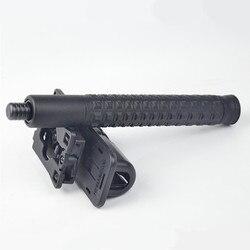 Drei abschnitt versenkbare stick selbstverteidigung stick außen Mechanische schalter Sicherheit kegel 21 zoll