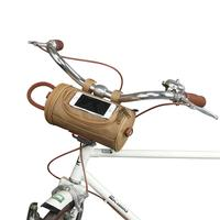 Tourbon 자전거 캔버스 핸들 바 가방 자전거 사이클링 케이스 최대 크기 16*9cm 전화 파우치 방수 자전거 액세서리 레트로