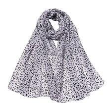 30 # chiffon polka dot cachecóis femininos lenço de seda leopardo impressão longa macio envoltório cachecol xale praia cachecóis viagem vintage luz cachecol