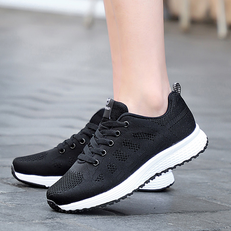 New Women Casual Mesh Shoes Fashion Breathable Lightweight Ladies Black Sneakers Basket Femme Chaussure 2020 Sapatenis Feminino
