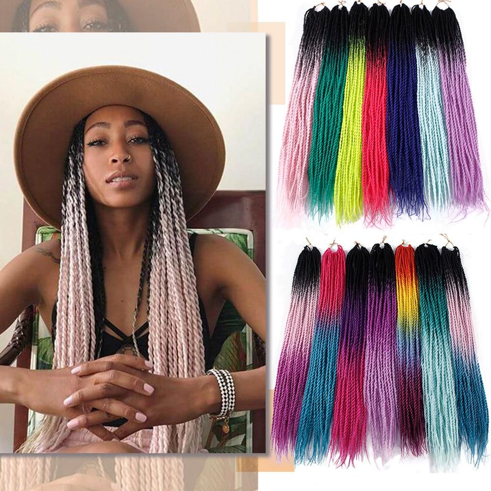 30Roots Ombre Braiding Hair Senegalese Twist Hair Extensions Synthetic Grey Blonde Colors Crochet Braids Senegal Wholesale Hair