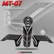 מכירה חדשה 3D ג ל אופנוע דלק מכסה מיכל דלק יציב מדבקות שילוב עבור ימאהה MT 07 MT07 mt07