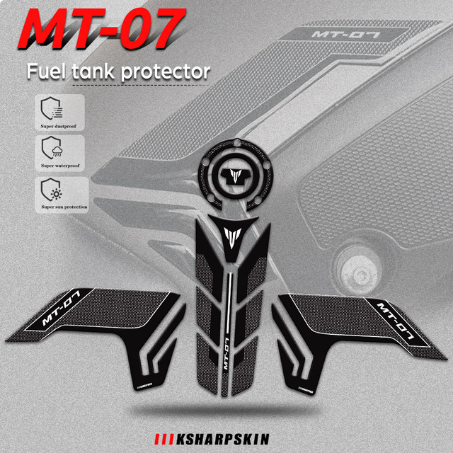 New Sale 3D Gel Motorcycle Fuel Tank Cap Fuel Tank Sticker Stable Decal Combination For YAMAHA MT 07 MT07 mt07