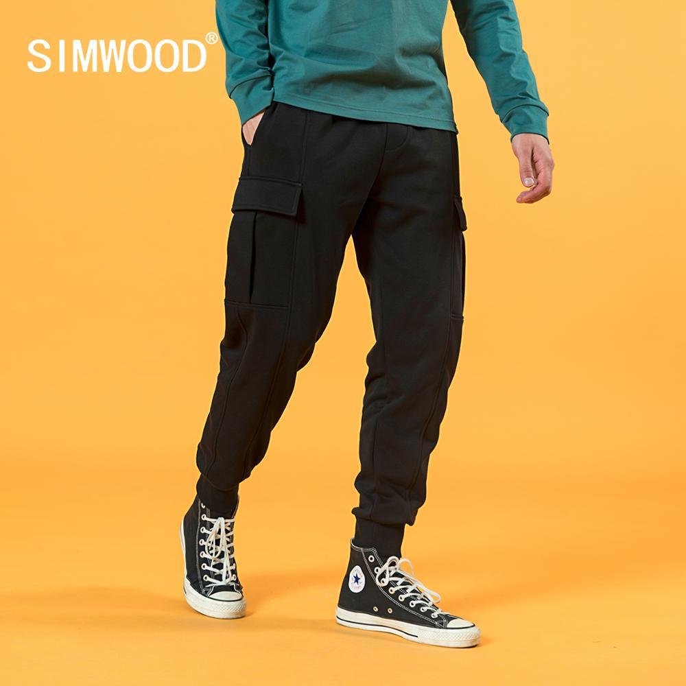 SIMWOOD 2020 Autumn Winter New Cargo pants men comfortable jogger sweatpants plus size gym hip hop trousers SJ170876