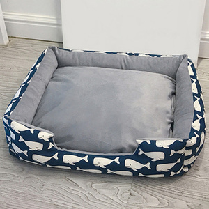 Square Dog Bed House Pets Mat