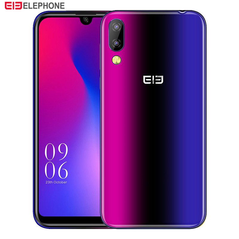 Elephone A6 Mini 4G Smartphone 5.71 Inch Android 9.0 MT6761 Quad Core 4GB RAM 64GB ROM Side Fingerprint Sensor Mobile Phone