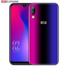 Cargadores de coche Elephone A6 Mini Smartphone 4G 5,71 pulgadas Android 9,0 MT6761 Quad Core 4GB RAM 64GB ROM lado sensor de huella dactilar teléfono móvil