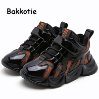 Bakkotie 2019 Baby Boys Winter High Sneakers New Kids Fashion Reflective Warm Sports Shoes Children Black Soft Fur Casual Shoes