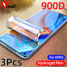 3Pcs 900D Not Glass Screen Protector for OPPO Find X2 Lite A9 A92 F7 F5 R17 Neo Hydrogel Film for Re