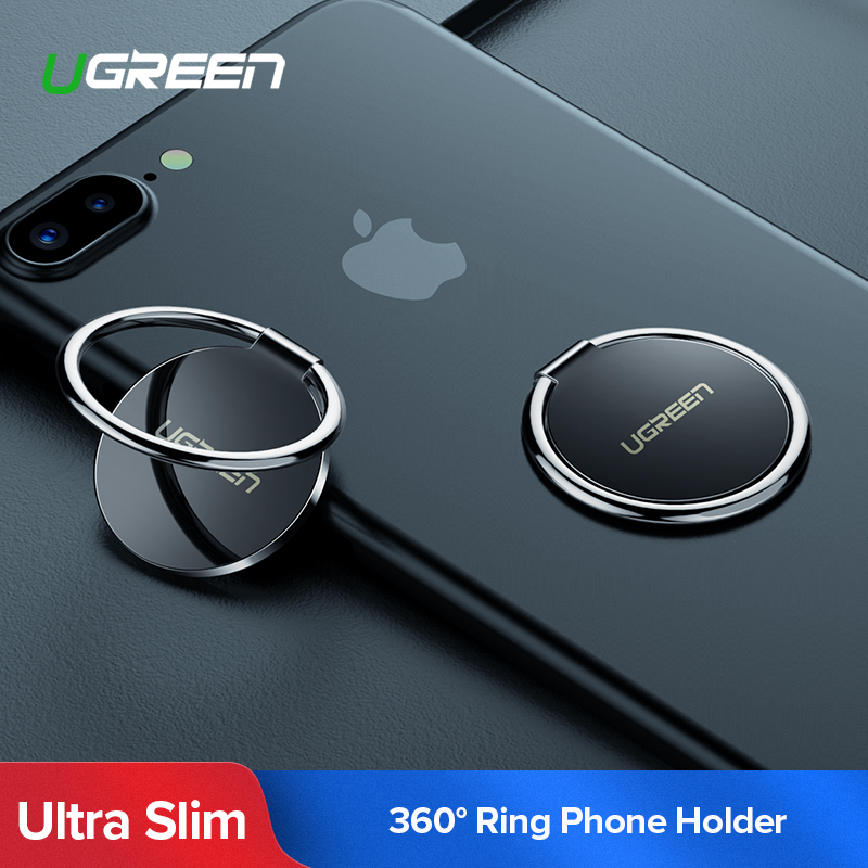 Ugreen <font><b>Finger</b></font> <font><b>Ring</b></font> <font><b>Holder</b></font> for Samsung S9 <font><b>360</b></font> Degree Mount <font><b>Holder</b></font> Stand Mobile Phone <font><b>Finger</b></font> Phone Stand for iPhone X 8 7 6 Tablet image