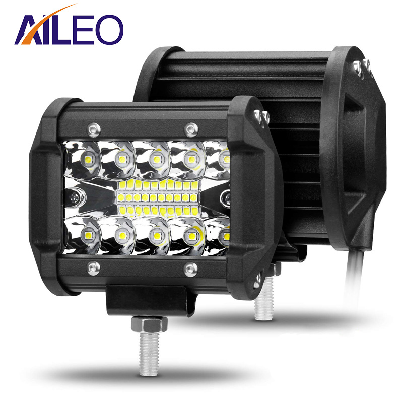 AILEO 4 Inch LED Bar LED Work Light Bar For Driving Offroad Boat Car Tractor Truck 4x4 SUV ATV 12V 24V Rated 60W Actual 15W