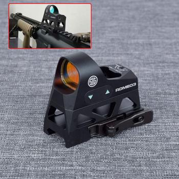 ROMEO3 1x25 Mini Reflex Sight 3 MOA Dot Reticle Red Dot Sight Scope Picatinny QD Mount for Rifles Carbines With 20mm Rail c more style red dot sight railway reflex for ris rail 4 color options free shipping