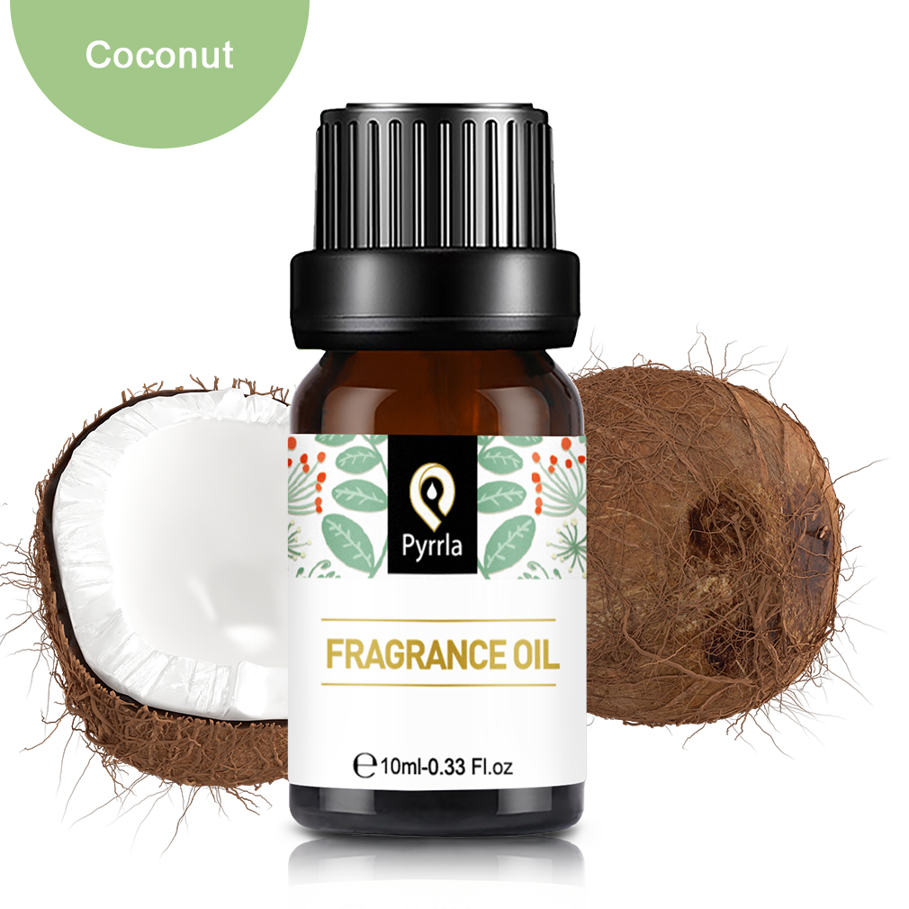 Pyrrla 10ml Coconut Fragrance Oil For Aromatherapy Diffusers Fresh Air White Musk Coconut & Vanilla Flower Fruit Essential Oil