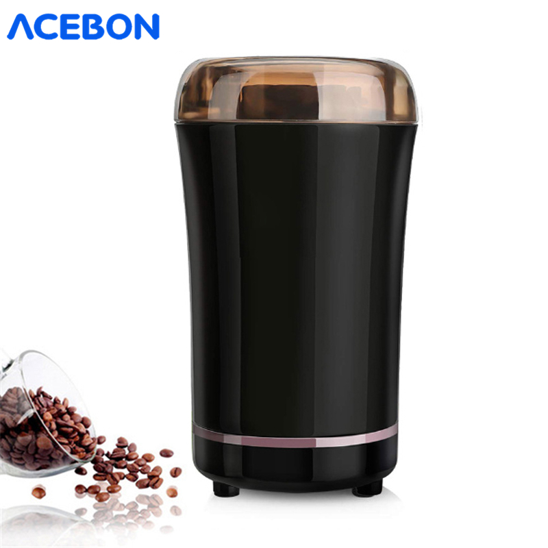 220V Mini Electric Coffee Grinder  Kitchen Salt Pepper Grinder Powerful Coffee Bean Machine For Home Kitchen Cafe Tools EU Plug