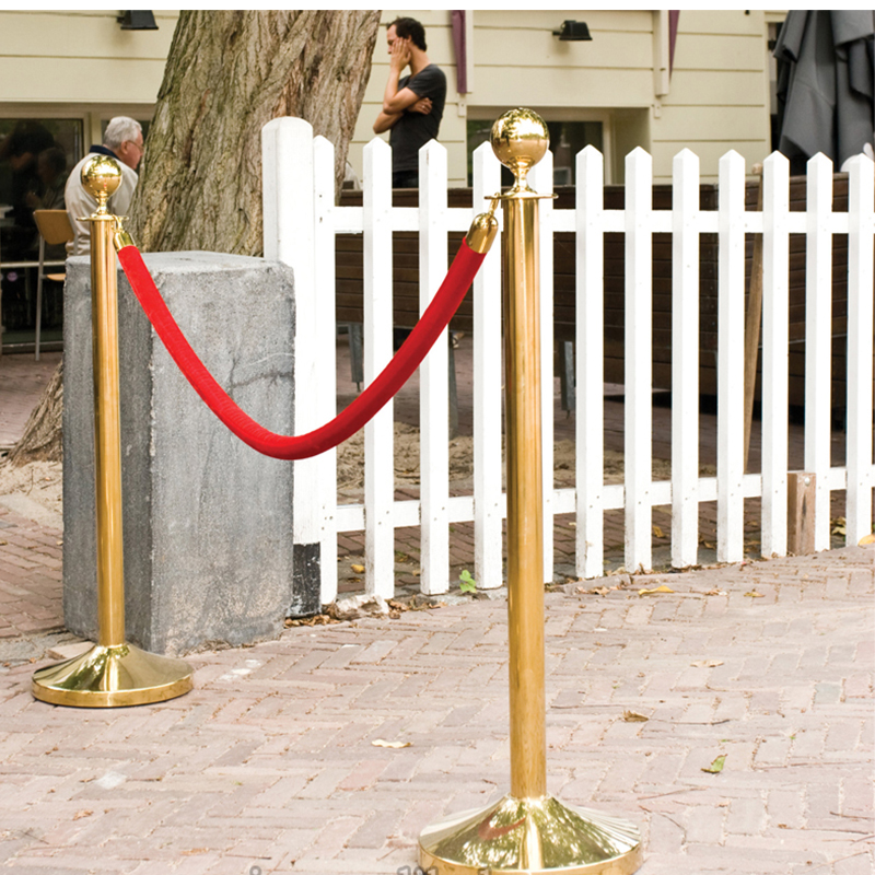 The New 2x Business Crowd Control Stanchion With 1.5m Queue Control Barrier Posts Safety Rope Concierge Isolation Holiday
