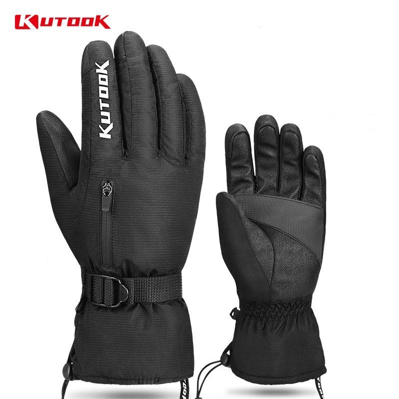 KUTOOK Thermal Winter Skiing Gloves Waterproof Windproof Glove Fist Protection Ski Snowboard For Men Women MTB Snowmobile Gloves
