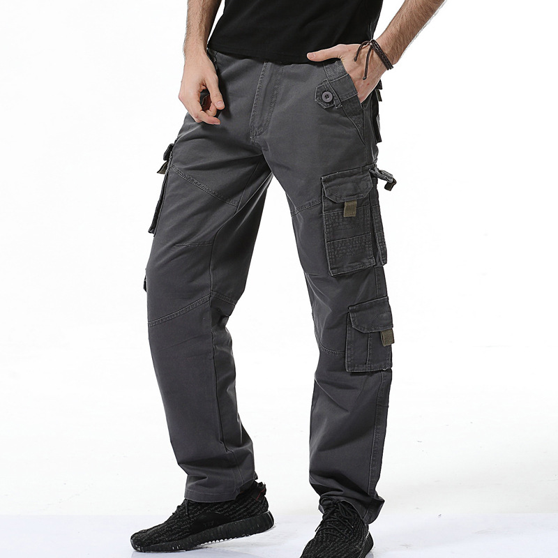 New Style Europe And America Large Size MEN'S Overalls Hot Selling Fashion Pants Loose-Fit MEN'S Pants