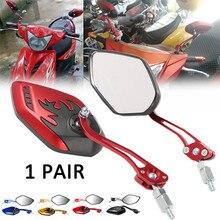 2 шт./компл. универсальные зеркала заднего вида для мотоцикла мотоцикл 360 градусов вращение Мотоцикл Скутер зеркала заднего вида 8/10 мм
