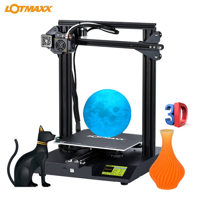 LOTMAXX SC 10 3D Printer Kit Silent Printing 235*235*280mm Build Volume Built in Safety Power Supply Filament Run Out Detection