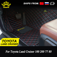 Car-Floor-Mats Interior-Accessories Land-Cruiser ROWNFUR Toyota Custom-Made for Protect